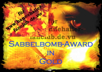 Sabbelbomb-AWARD in GOLD